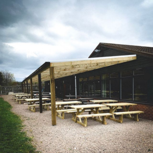 The Hop Pocket Restaurant outdoor lean to